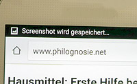 Screenshot mit Samsung Galaxy Android machen